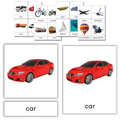Transportation 3-Part Cards