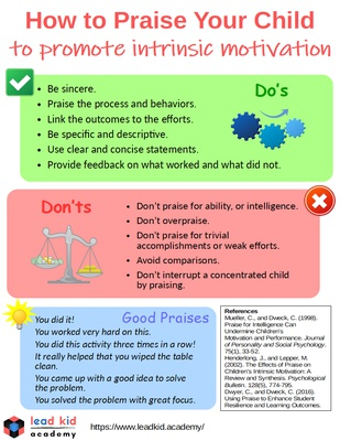 How to Praise Your Child to Promote Intrinsic Motivation