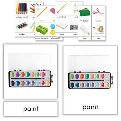 Art Supplies 3-Part Cards