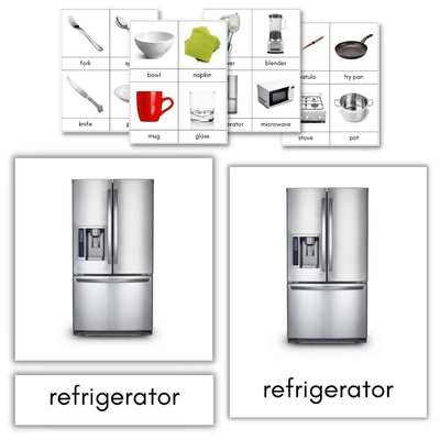 Kitchen Items 3-Part Cards