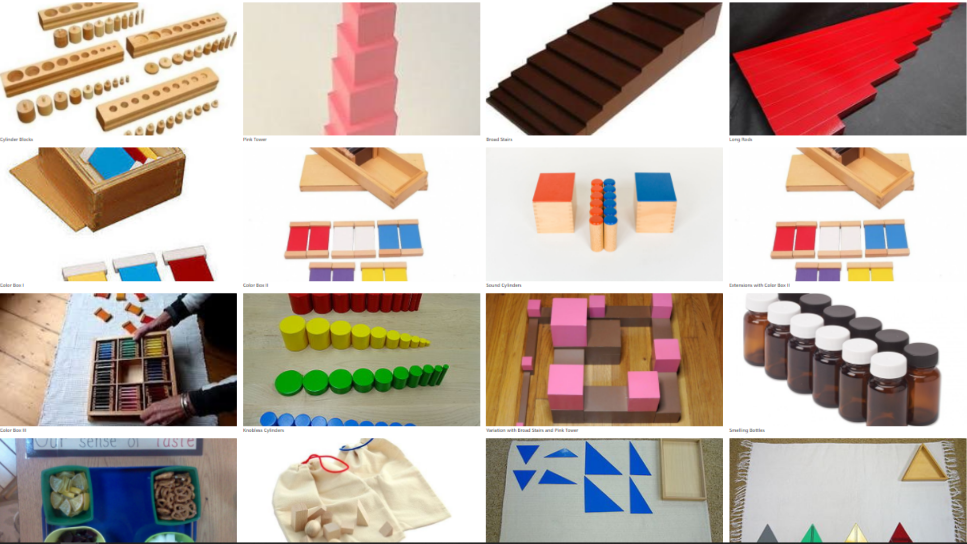 Click to view classic Montessori activities