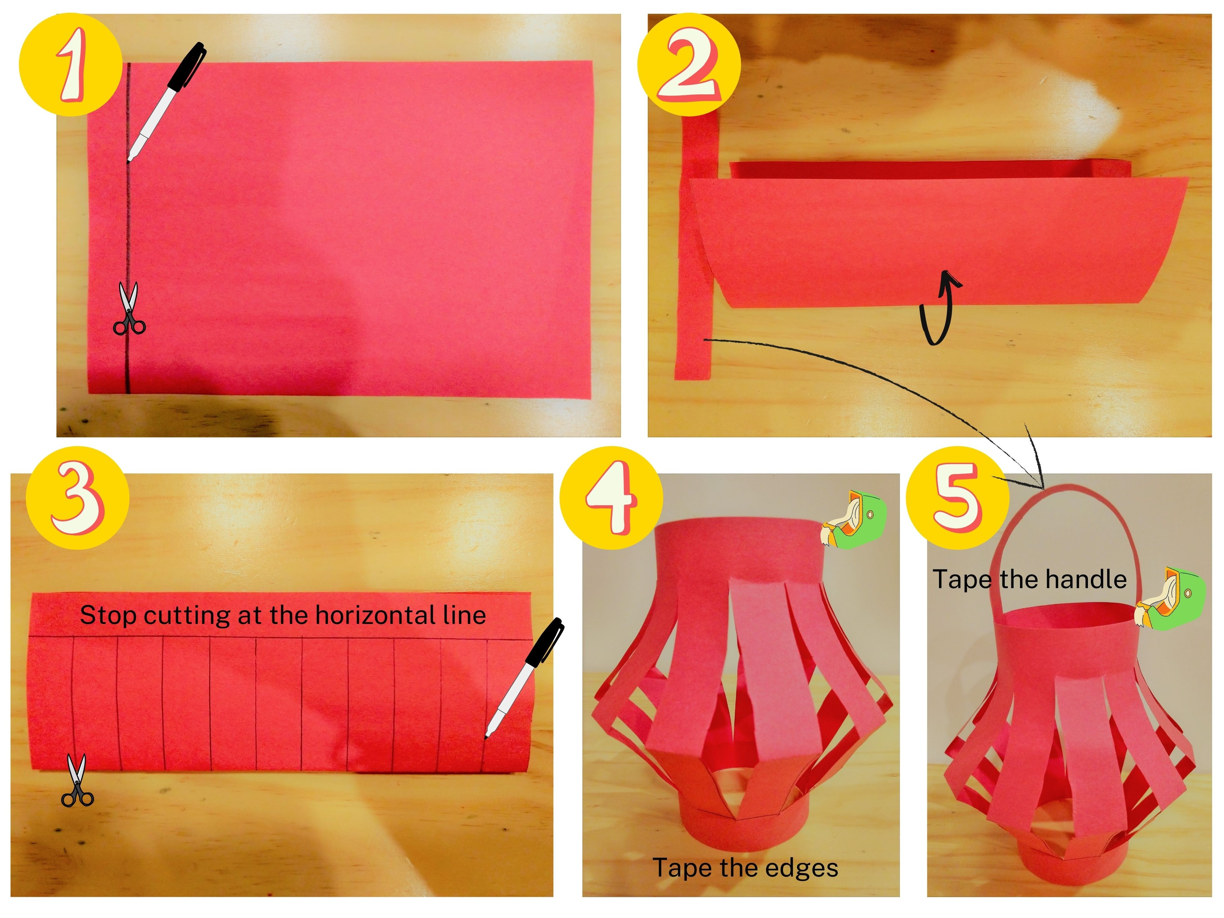 Making a paper lantern